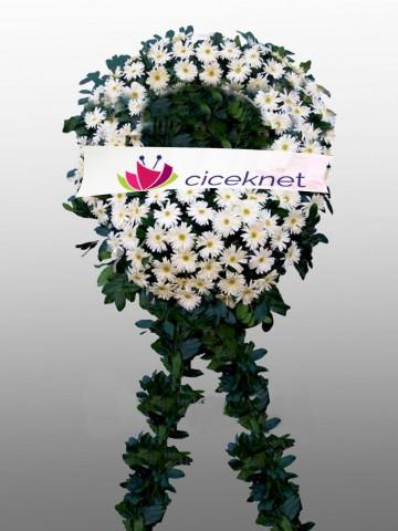 Beyaz Gerbera Cenaze Çelengi Cenaze Çelengi çiçek gönder