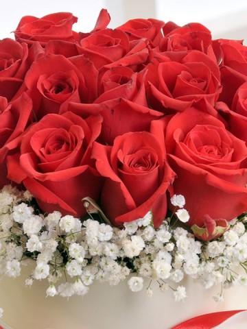 Aşkın Cesareti 11 Adet Kırmızı Gül Kutuda Çiçek çiçek gönder