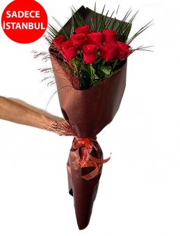 Aşkın Rengi Kırmızı Güller Buketi Buketler çiçek gönder
