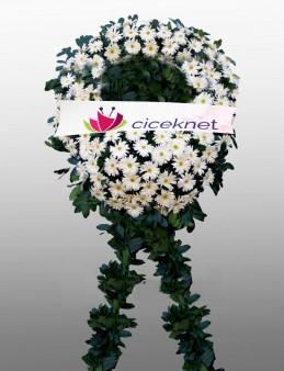 Beyaz Gerbera Cenaze Çelengi..  çiçek gönder