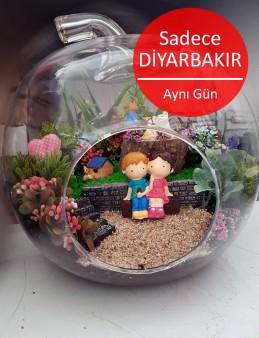 Orta Boy Yapay Terrarium 2  çiçek gönder