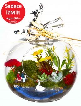Akdeniz'de  Aşk Bir Başka Teraryum Terarium çiçek gönder