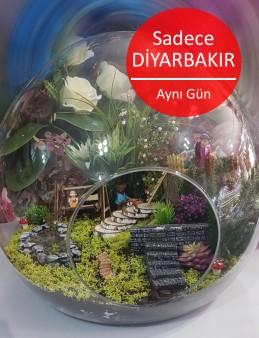 Dünya Yapay Terrarium 4  çiçek gönder