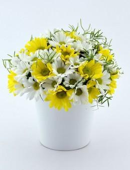 Seramikte Kır Çiçekleri  çiçek gönder