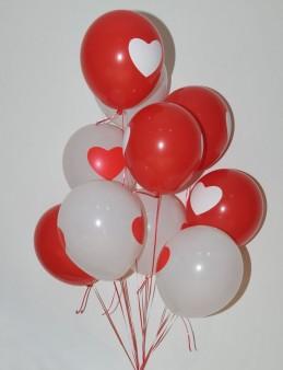Kalbimin Tek Sahibi Kalpli Uçan Balon Buketi  çiçek gönder