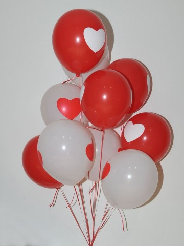 Kalbimin Tek Sahibi Kalpli Uçan Balon Buketi Balonlar çiçek gönder
