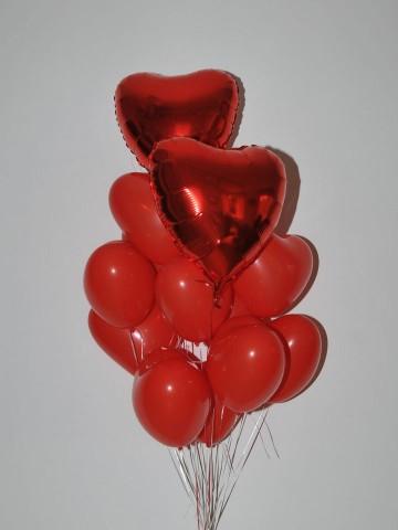 Kalp Şeklinde Balon Buketi 2 Balonlar çiçek gönder