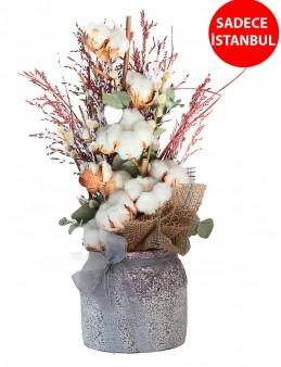 Bembeyaz  Pamuk Tasarım Aranjmanı  çiçek gönder