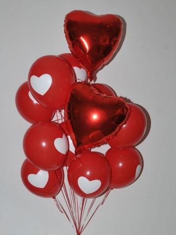 Kalp Desenli Balon Buketi 2 Balonlar çiçek gönder