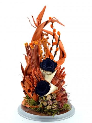 Huzur Kokusu Siyah Solmayan Güller Solmayan Güller  çiçek gönder