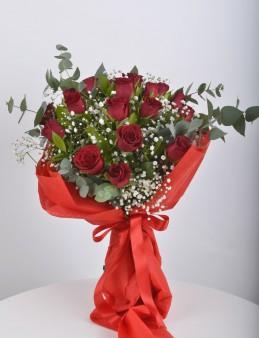 Buket 19 Kırmızı Gül.  çiçek gönder