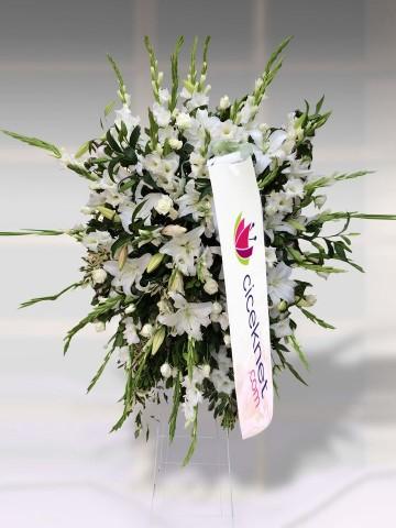 Beyaz Çiçekli Ferforje Ferforje çiçek gönder