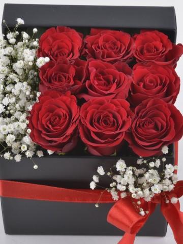 Seni Çok Seviyorum Hediyelik Kutuda Kırmızı Güller Kutuda Çiçek çiçek gönder