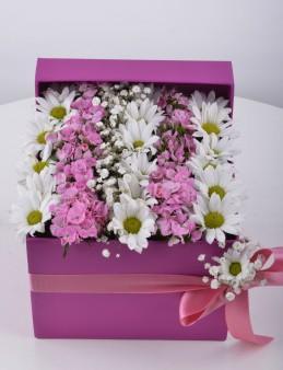 Özel Kutuda Baharın Gelişi Kır Çiçeği Arajmanı.  çiçek gönder