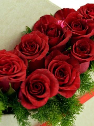 Bir Aşk Mektubu Kırmızı Güller Kutuda Çiçek çiçek gönder