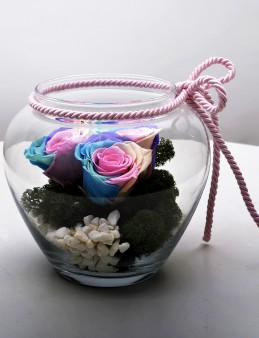 Seni Seviyorum Solmayan Gül Arajmanı  çiçek gönder