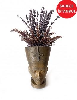 Nefertiti Seramikte  Şoklanmış Lavanta    çiçek gönder