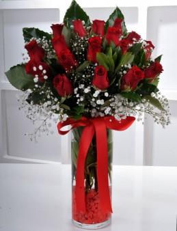 Vazoda 17 Kırmızı Gül.  çiçek gönder