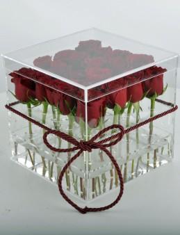 Aşkın En Şeffaf Hali Kırmızı Güller  çiçek gönder