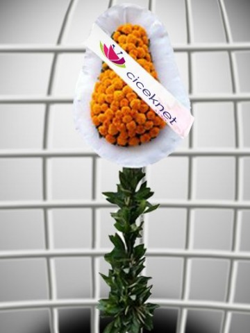 Turunculu Ayaklı Sepet Ayaklı Sepet çiçek gönder