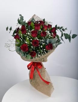 Buket 19 Kırmızı Gül  çiçek gönder