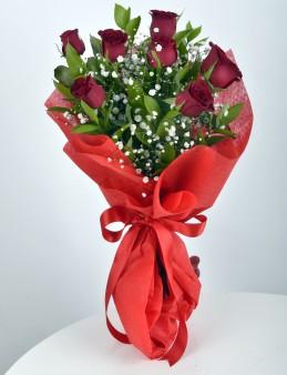 7 Adet Kırmızı Gül Buketi  çiçek gönder