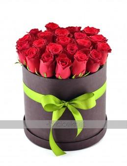 Siyah  Kutuda 21 Adet Kırmızı Gül   çiçek gönder