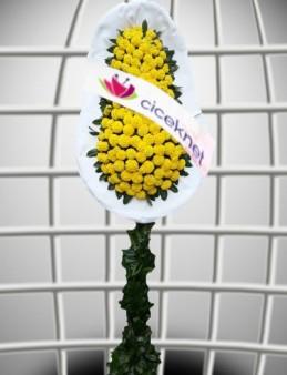 Sarı Cinyalı Ayaklı Sepet  çiçek gönder