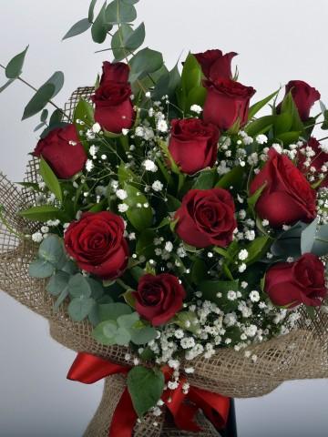 Canım Sevgilime 14 Kırmızı Gül Buketi Buketler çiçek gönder