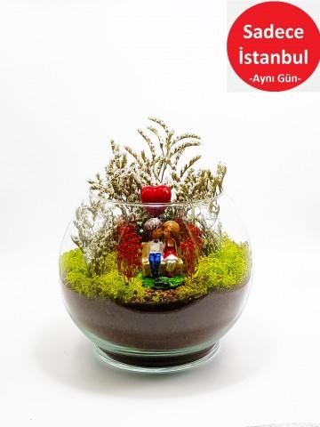 Canım Sevgilim Yapay Teraryum Terarium çiçek gönder