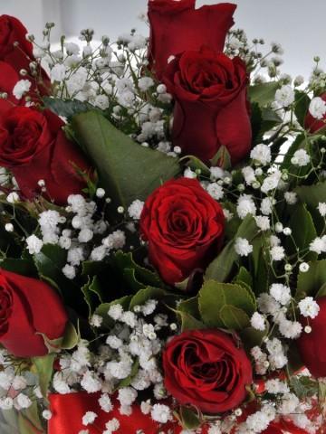 Aşk Küresi 11 Kırmızı Gül Aranjmanlar çiçek gönder