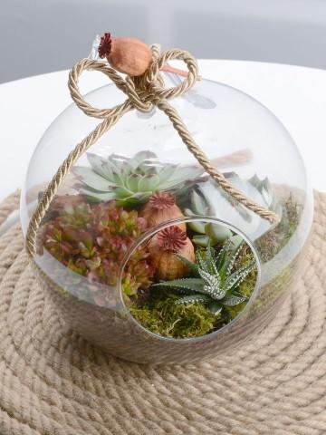 Orta Boy Elma Terrarium Terarium çiçek gönder
