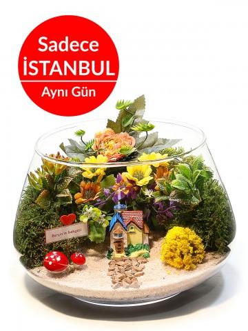 Aşk Bahçesi Teraryum Terarium çiçek gönder