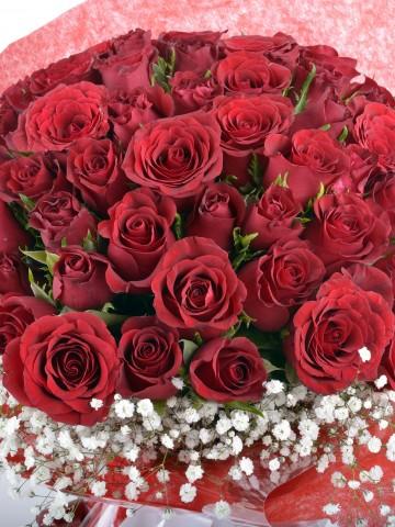 Seni Seviyorum 51 Adet Kırmızı Gül Buketi Buketler çiçek gönder