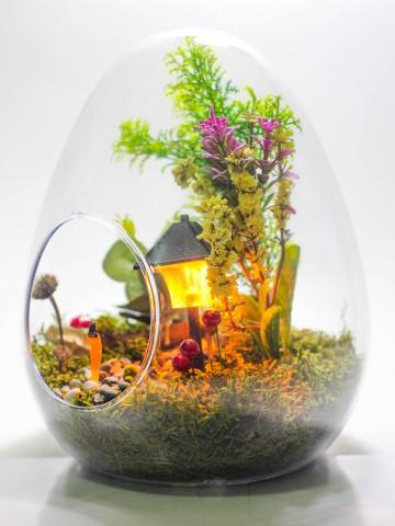 Sonbahar Bahçesi Teraryum Terarium çiçek gönder