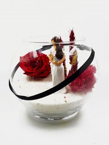 Solmayan Gül Özel Tasarım Teraryum Solmayan Güller  çiçek gönder
