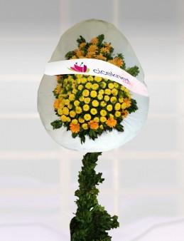 Sarı Cinyalı Açılış Sepeti.  çiçek gönder