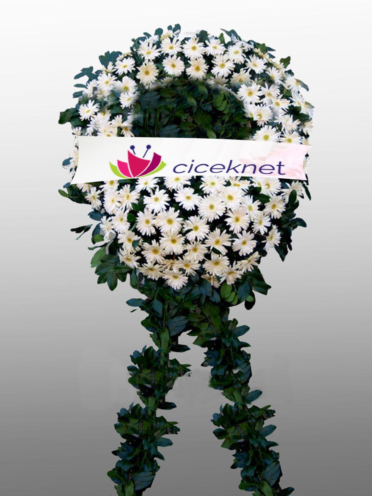 Beyaz Gerbera Cenaze Çelengi. Cenaze Çelengi çiçek gönder