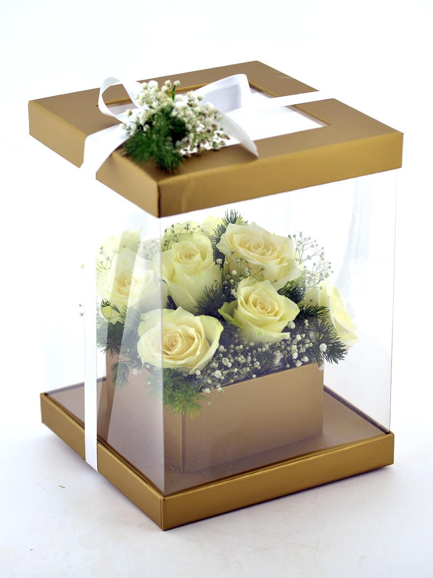 Sevgi Bahçesi 11 Beyaz Gül  çiçek gönder