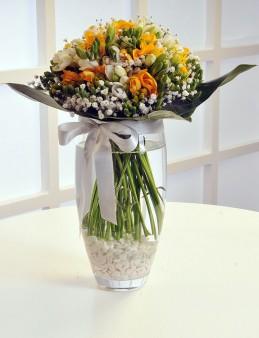 Cam Vazoda Frezyalar  çiçek gönder