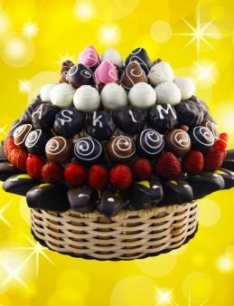 Büyük Aşkım Meyve Sepeti  çiçek gönder