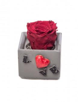 Lover Serisi Bordo Renk Şoklanmış Gül Tasarım  çiçek gönder