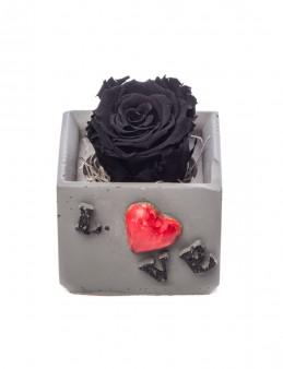 Lover Serisi Siyah Renk Şoklanmış Gül Tasarım  çiçek gönder