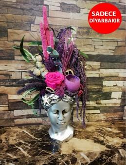 Antik Helen Vazoda Kuru Çiçek Aranjmanı  çiçek gönder