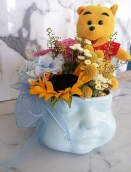 Exclusive Collection Mavi Hoşgeldin Bebek Aranjmanı  çiçek gönder