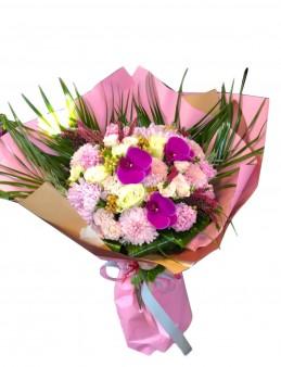 Orkideli El Buketi  çiçek gönder