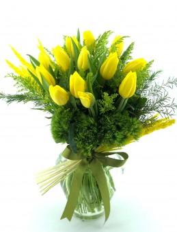 Sarı  Lale Aranjmanı  çiçek gönder