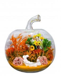 Renkli Bahçe Yapay Teraryum Terarium çiçek gönder