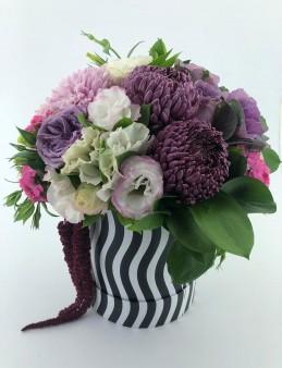 Zebra Kutuda Tasarım Çiçek  çiçek gönder