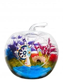 Akdeniz Konsepti Yapay Teraryum  çiçek gönder